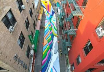 Al estilo del Paseo Bandera: así es la nueva intervención de Dasic Fernández en el Chinatown de Nueva York