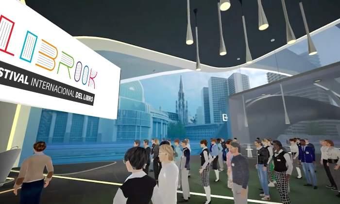 Así es Librook, el primer festival de libros virtual en formato 3D