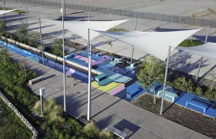 El Parque Bicentenario de Cerrillos se convierte en un museo a cielo abierto